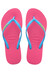 havaianas Slim Logo Flips Women Orchid Rose/Turquoise